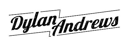 A creative logo of the name Dylan Andrews